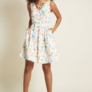 cc73897c7253 Modcloth Dresses - Modcloth Pleasant Temperament Cotton A-Line Dress
